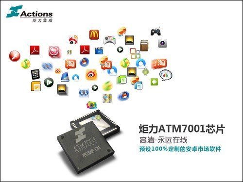 娱乐永远在线炬力atm7001定制安卓软件