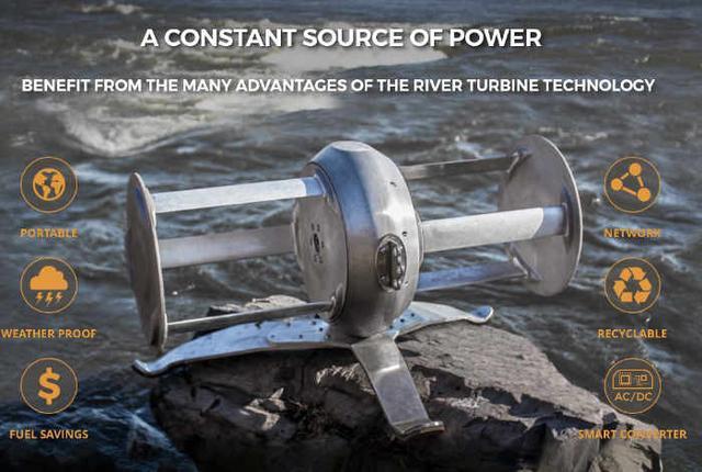这款便携发电机一天能产生12度电 扔河里就能用