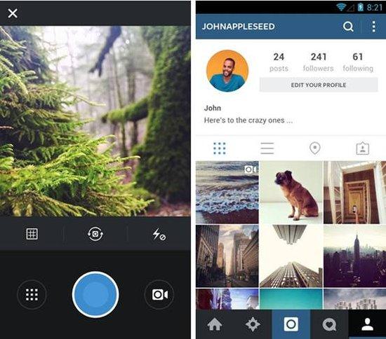 安卓版instagram更新 界面扁平化运行速度提升