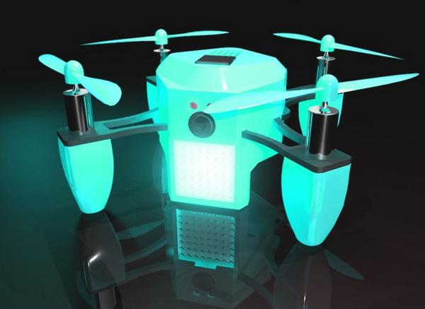 能装兜儿里的自拍无人机!手掌大小还带LED屏