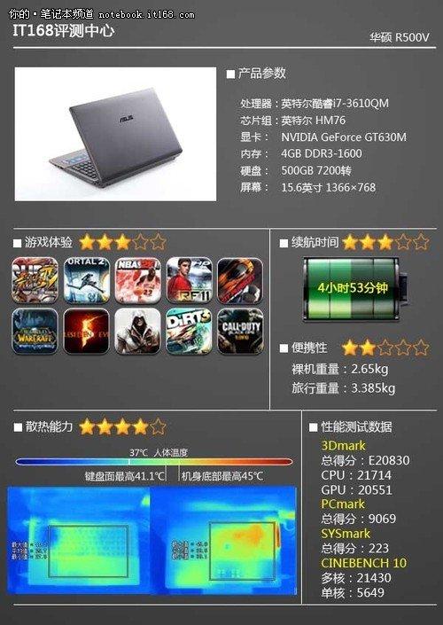 华硕R500V评测 大屏高性能影音娱乐本