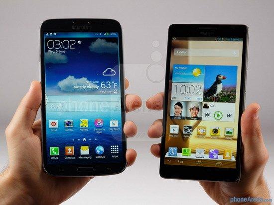 6英寸手机之争:三星Mega 6.3对比华为Mate