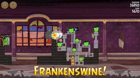 绿猪弗兰肯和坏伙伴们复活了!怒鸟季节版更新