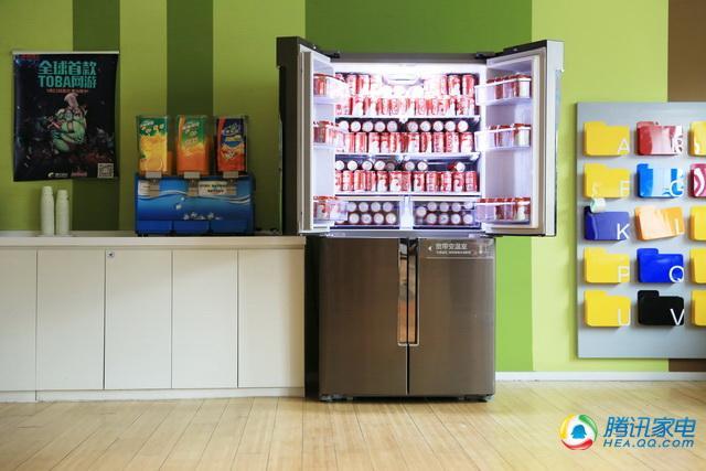 评三星611升品式多门冰箱 制冷空间可自由调整