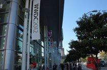 街道上已经挂满WWDC2012的条幅