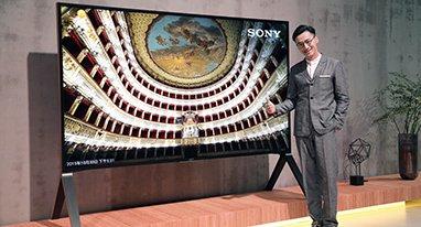 索尼100寸旗舰电视 整机看不到一根线