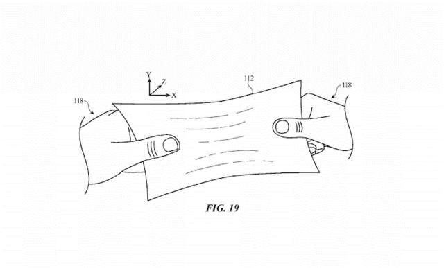 苹果也申请柔性屏幕专利了 就像一张塑料膜