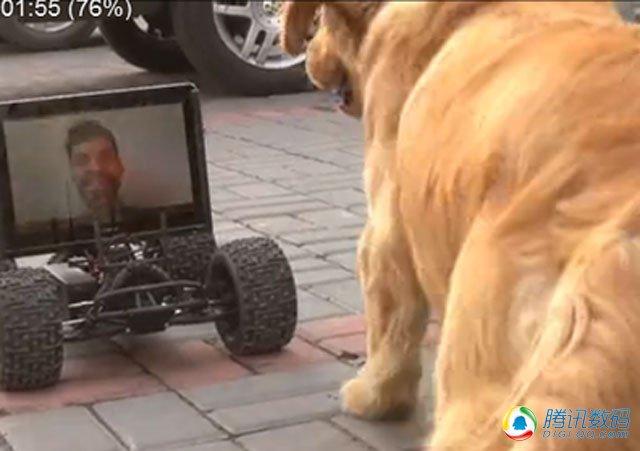 一周新本猎奇 老外改造平板电脑成遛狗神器