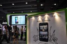 HTC展台一角