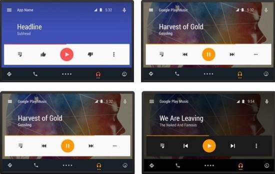 谷歌公布Android Auto车载系统更多界面详情