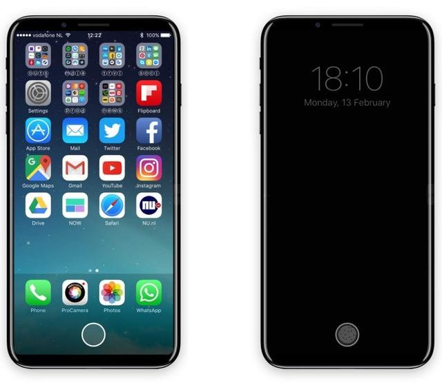 iPhone 8最强概念设计:虚拟Home键+功能条登场