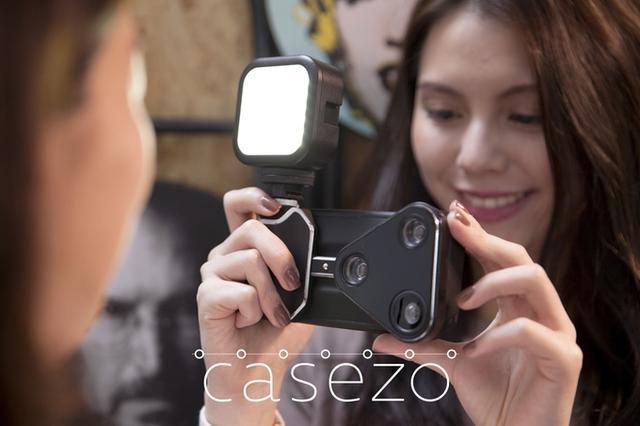 手机壳有鱼眼/广角/长焦三种镜头 手机秒变微单