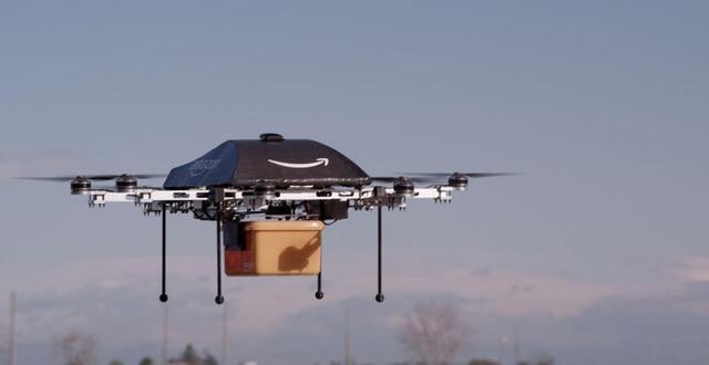 亚马逊新专利:用无人机送包裹