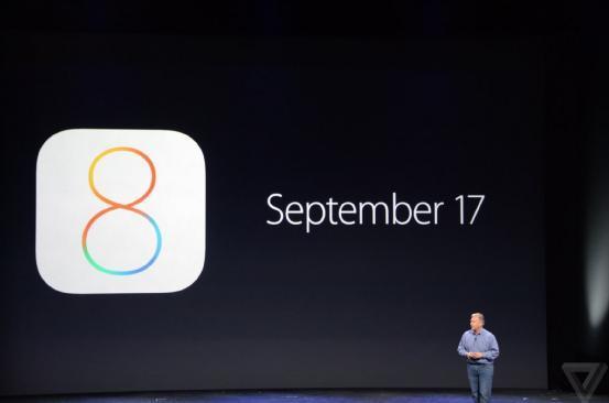 iOS 8将于17日开放下载 支持iPhone及iPad