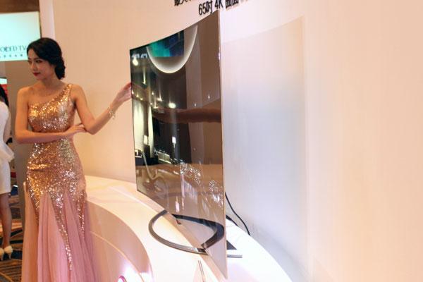 LG 4K曲面OLED电视登陆中国 65寸售价59999元