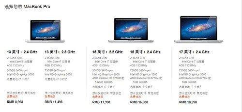 中国同步上架新MacBook Pro 售价不变