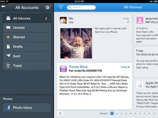 iPad电子邮件应用Incredimail 支持预览功能