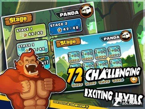 超级弹弓弹射 iPad可爱游戏疯狂熊猫HD