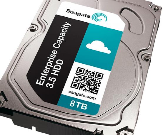 希捷发全球首款8TB企业级硬盘 破容量记录