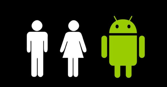 安卓绿机器人标志设计灵感来自于洗手间标志