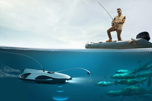 无人机又到水里搞事情了 可以发声呐诱捕鱼类