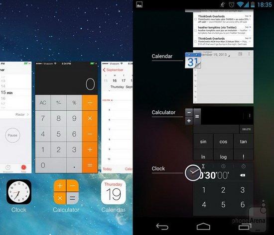iOS 7对比Android 4.3:相互借鉴进行中