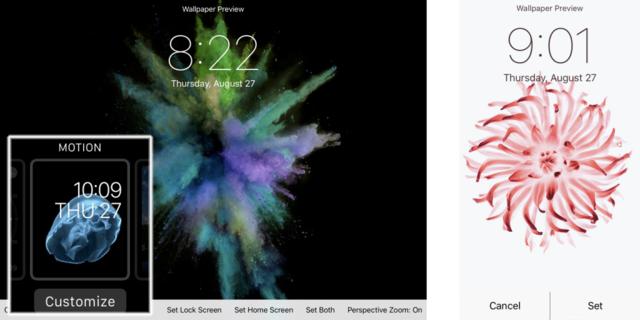 传iPhone 6s将使用动态墙纸 类似苹果手表