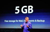iCloud为每个用户提供5GB空间