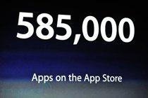 苹果App Store中已有58500款应用