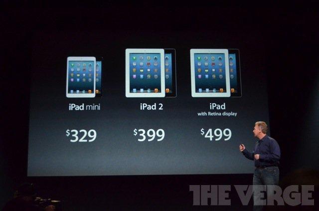 苹果iPad mini平板电脑发布 最低配售329美元