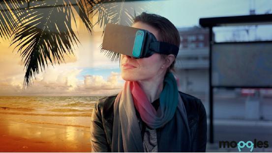 Moggles虚拟现实眼镜:仅手机大小/配手柄