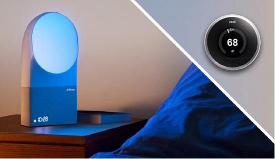 Aura追踪器与恒温器联合 提供最佳睡眠温度