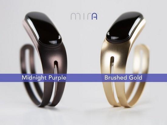 Mira这款女性智能手镯更像时尚饰品