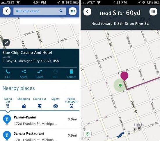 诺基亚HERE地图 vs 谷歌地图 vs 苹果地图
