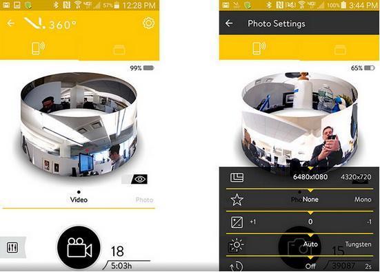 虚拟现实全景360度运动相机VSN Mobil V.360