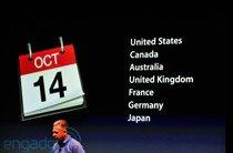 iPhone 4S 10月14日七国率先上市