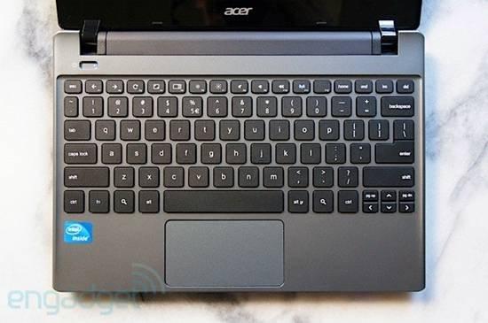 ACER Chromebook键盘特写