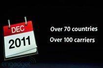 2011年底70个国家上市