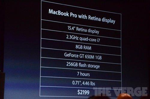 新一代MacBook Pro今日开售:2199美元