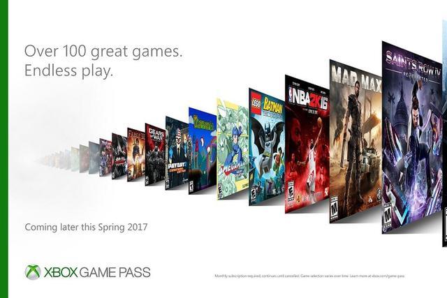 每月交10美刀 Xbox用户就能随便玩100款游戏