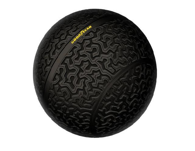 固特异展示概念轮胎 采用3D打印球型设计
