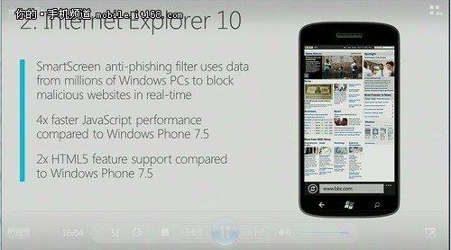 支持IE10 微软WP8上网性能超iPhone 4S