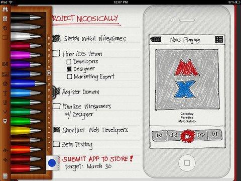 Noteshelf:iPad上最唯美的多彩笔记软件