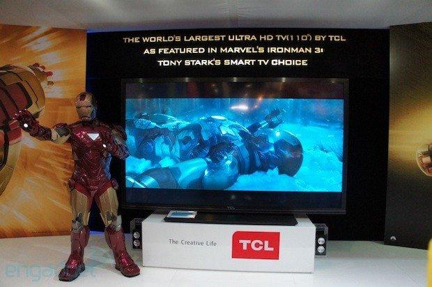 TCL展示110寸4K超清3D电视 代号中国之星