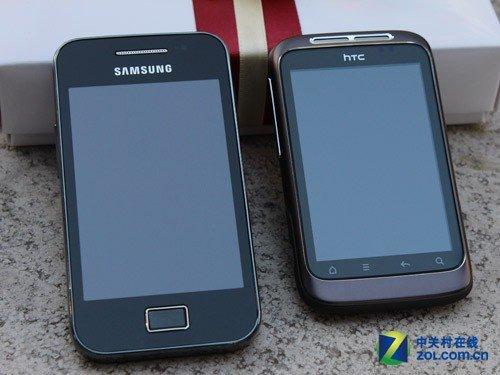 平民安卓热机 三星S5830对比HTC A510e
