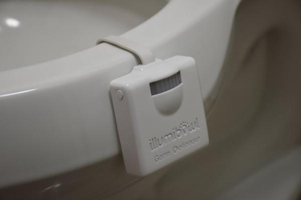 马桶小夜灯升级!电池寿命更长还支持UV杀菌