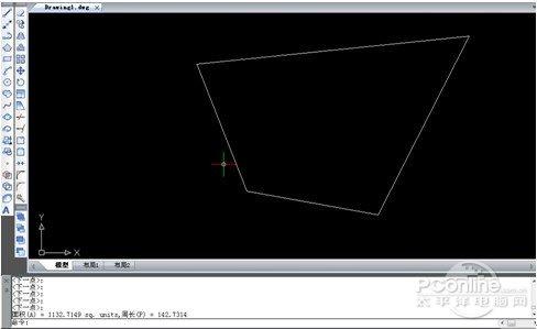 我们只须执行命令【area】(可以是命令行输入或点击对应命令图标),在图片