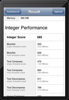 新iPad跑分结果放出 双核CPU配1GB RAM