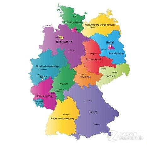 荷兰手绘区域地图