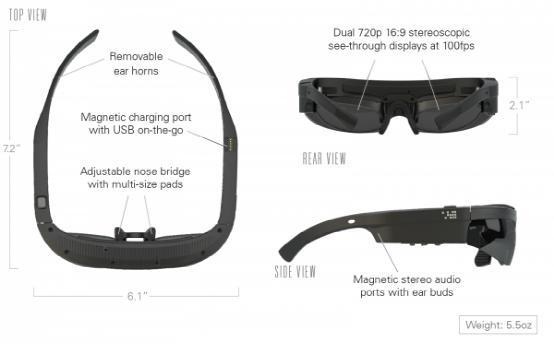 Android智能眼镜ODG R-7:使用无需连接手机